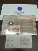 2009 Birth Of Our Nation Mayflower Compact 14k Gold Coin .5g By American Mint