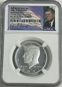 2021 S Ngc Pf70 Ultra Cameo Er .999 Fine Proof Silver Kennedy Half Dollar Sign