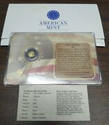 2009 Birth Of Our Nation Statue Of Liberty 14k Gold Coin .5g By American Mint