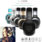 Bluetooth Wireless Headphones On Ear Stereo Headset Fm For Iphone X 8p 7 Samsung
