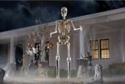 12 Ft Foot Giant Skeleton W/ Animated Lcd Eyes Halloween Prop Homedepot Sold Out