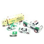 Hess Toys Helicopter Truck Hummer Race Car Hauler 18 Wheeler And03901 And03903 And03906 2011