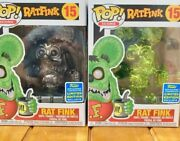 Funko Pop Rat Fink Icons Gray And Green Chrome Set 2019 Sdcc Shared Exclusive