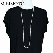 Mikimoto Long Pearl Necklace Akoya 5.5mm 6.0mm 107cm Silver 53.1g Secondhand