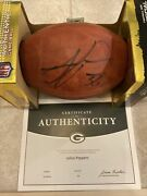Julius Peppers 56 Autographed Duke Game Ball With Coa