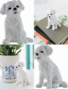 Boulevard East Concepts Maltese Breed Puppy Dog Collectible Figurine Statue