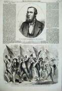 Old Antique Print 1860 Laing Finance Minister India Neapolitan Annexation 19th