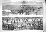 Old Antique Print 1865 Rifle Carbine Match Sheepcote Valley Muster Army 19th
