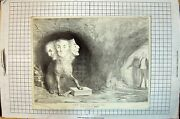 Old Antique Print 1834 State Clearings Leaf Out Aenead Parliament Heads 19th