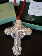 2009 Wallace Sterling Silver Christmas Ornament Cross Rare