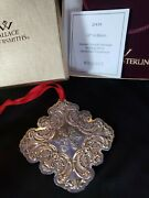2009 Wallace Sterling Silver Snowflake Christmas Ornament Rare Year