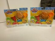 2 Hasbro Play Doh Kitchen Creations Burger Bash With 4 Cans Of Compounds
