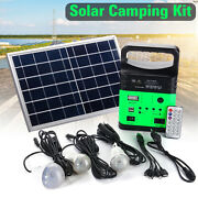 Solar Power System Portable Super Bright Energy Saving Lamp Usb Charger Outdoor