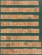 Edw1949sell Canada 1858 Scott 15. 60 Stamps. Used. Mixed Condition. Cat 2250