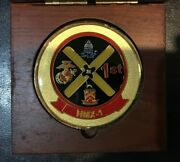 President Ronald Reagan -lg Hmx-1 Marine One Medal And Wood Box- White House-issue