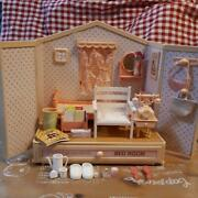 Monchhichi Bedroom Dollhouse Set Vintage From Japan Free Shipping
