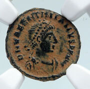 Valentinian Ii Ancient 388ad Antique Old Roman Coin Staurogram Wreath Ngc I89526