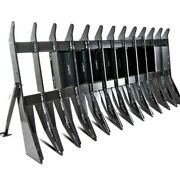 72 Root Clearing Rake Debris Silage Rock Skid Steer Tractor Loader Attachment