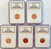 Ngc Ms68 2005-p Lincoln Cent Penny 1c Lot Of 5 Coins Sms