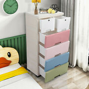 Lockable Plastic Drawers Chest Of Drawers 3/6 Clothes Storage Organizer Unit
