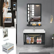 24in Wall-mounted Bathroom Storage Set Space Aluminum Bath Cabinet Combination