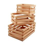 Rustic Wooden Crates With Vintage Decorative Display - Hand Crafted Natural