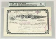 1908 Nevada Hills Extension Mining Company Stock Certificate Goldfield Pmg 66