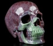 3.4 Ruby Zoisite Carved Crystal Skull, Super Realistic, Crystal Healing 239