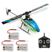 Wltoys V911s 4ch 6g Non-aileron Rc Helicopter Sideward Flight W/3 Batteries F5p8