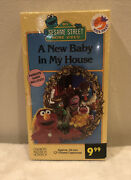 Sesame Street A New Baby In My House Vhs 1994 Super Rare Collectors Tape Sealed