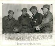 1955 Press Photo A Group Of Army Officers In Uniforms, Survival City, Nevada