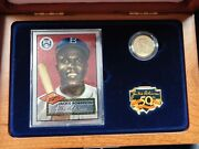 1997-w 5 Gold Proof Jackie Robinson Legacy Set With Coa Lapel Pin Card Patch