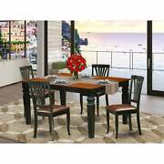 Kitchen Table Set With A Kitchen Table And 4 Leather Dining