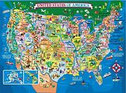 200 Pieces Usa Map Jigsaw Puzzles Jumbo Learning And Education Toys Floor Puzzl...