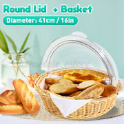 Round Food Cover Display Storage Basket Dessert Fruit Container Holder Dome Lid
