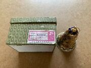 Vintage Cloisonne Peoples Republic Of China Floral Ornament Bell 1