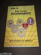 Vintage Bsa Boy Scouts Of America Book 1989-91 Boy Scout Requirements