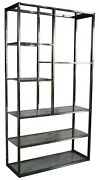Mid Century Modern Labarge Chrome And Glass Etagere Bookcase Curio Display Shelf
