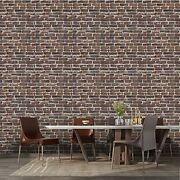 3d Faux Stone Wall Panels Farmhouse Pack 3d Self 10 Rust Red Brown Brick