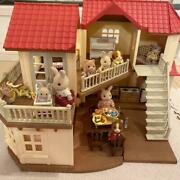 Sylvanian Families Large House With Light Doll Accessories
