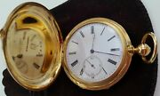 H.l Matile Gold Pocket Watch Le Locle Suisse C.1800and039s - See Details And Photos