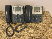 Lot Of 2 Cisco Spa 508g Small Business Ip Phone Spa508g - With Stand And Handset