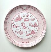 Spode 2003 Classic Pooh Discovery Cranberry Pink Disney Showcase Eeyore Plate