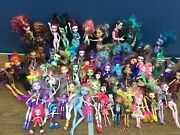 Used Loose Lot 64 Monster High Toy Dolls And Others Mermaids Mattel