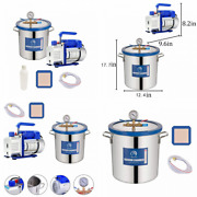 5 Gallon Tempered Glass Lid Vacuum Chamber With Pump, Degassing 5