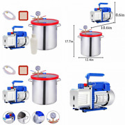 5 Gallon Tempered Glass Lid Vacuum Chamber And 4cfm 1 Stage 5