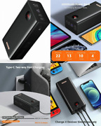 Romoss 60000mah Power Bank, 22.5w Max Quick Charge Portable Phone Black