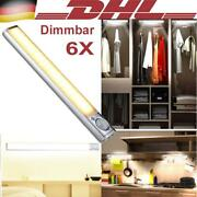 6x 22cm Under Cabinet Lights Dimmable Led Kitchen Lamp Closet Cupboard Lighting