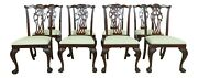 L33042ec Set Of 8 Ethan Allen Ball And Claw Mahogany Dining Room Chairs