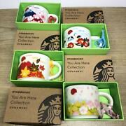 Starbucks You Are Here Collection Ornament Size A Set Of 4 For A Limited Time